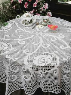 Page 1 of 2  Crochet Tablecloth