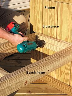 how to build a simple deck planter