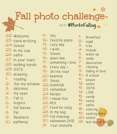Fall photo challenge ♥