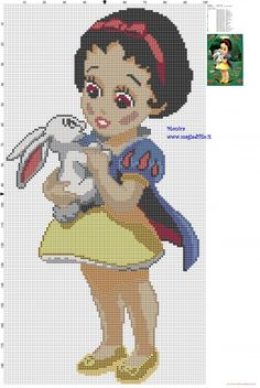 The Little Snow White cross stitch pattern (click to view)