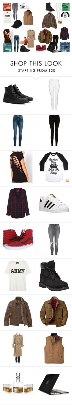 """""""Untitled #295"""" by partydora on Polyvore featuring Converse, Topshop, Current/Elliott, Rails, adidas, Vans, NLST, Timberland, Burberry and Mountain Khakis"""