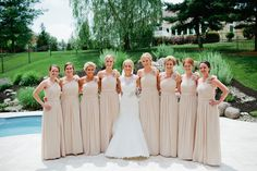 These maid dresses and much more available at VOILA! Bridal & Formal  voilabridal.com | 864.229.GOWN Uptown Greenwood, SC