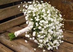 Kreativ Fryd Blomsterbinderi Brudepikebukett brudeslør, gypsophila