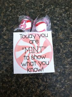 """Finals Encouragement ~ 2day You're """"MINT"""" to show what you know"""