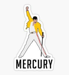 Freddie Mercury stickers featuring millions of original designs created by independent artists. Stickers Cool, Tumblr Stickers, Phone Stickers, Anime Stickers, Printable Stickers, Band Stickers, Freddie Mercury, Queen Band, Aesthetic Stickers
