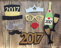 Items similar to New Years Eve Photo Booth Props on Etsy