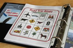 Car Binder (NO MORE VIDEO GAMES) - Printable activities for in the car  (License Plate Game  Slug Bug, I-Spy, Alphabet Game  Travel Bingo)