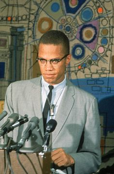 Malcolm X was a leader in the civil rights movement until his assassination in The Autobiography of Malcolm X is still a widely read work of nonfiction. Malcolm X, Black Leaders, X Picture, By Any Means Necessary, Black History Facts, Black Pride, African Diaspora, African American History, American Art