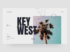 Florida by Tom Arends Design Web, Design Blog, Page Design, Website Design Inspiration, Graphic Design Inspiration, Print Layout, Web Layout, Layout Design, Webdesign Layouts