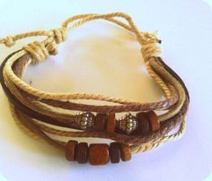 For a little boho flavor... this wrapped beaded Rope Ankle or Wrist Bracelet starts at $5 now!