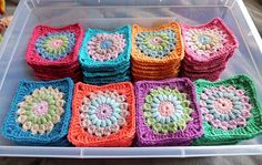 Sunburst Granny Squares found on Mandy's Craft Tales Facebook page