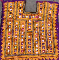 Vintage Handmade Banjara Neck Yoke with mirror by coloursofspirit
