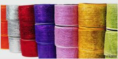 Deco Mesh Ribbons  This ribbons can be used for decorate anything like doorway, table centerpiece, Christmas trees, light poles & etc.,  http://www.fuzzyfabric.com/floral-mesh/floral-mesh-ribbon