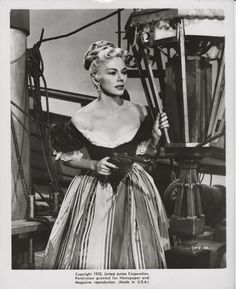 Eva+Gabor with a pistol ORIGINAL 1953 scene portrait from Captain Kidd
