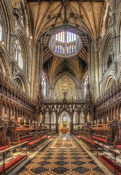 Choir looking west, Ely Cathedral, Cambridgeshire, built from 1083-1375