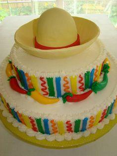MExican Sombrero & Chile Cake