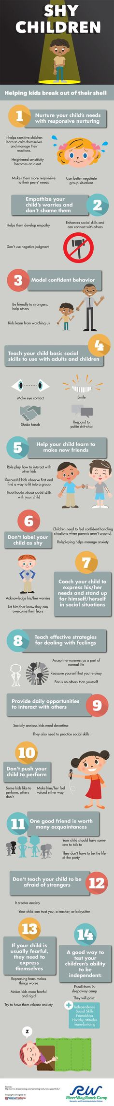 Helping Kids Break out of Their Shell #infographic #Parenting #Education