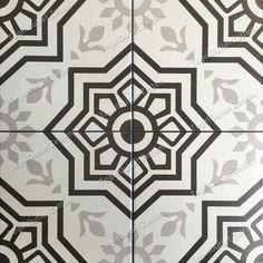 Vloertegel Tiffani 20x20cm black - Prachtige vintage Portugese Marokkaanse look tegels voor in uw badkamer - toilet of keuken. Ook in de hal is dit een mooie verrijking Decor, Tiles, Floor Design, Home Decor Decals, Home Decor, Toilet, Flooring
