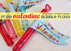 {FREE DOWNLOAD} Valentine Bubble Flags