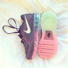 Ombre Nike trainers! (actual shoe; Nike Air Max 2014 iD Running Shoe) #pastel #ombre #sneakers