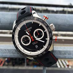 The @tissot PRS 516 at the Indianapolis Motor Speedway. (Available: Fall 2015) More information, at: http://www.watchtime.com/featured/borrowed-time-reviewing-the-new-tissot-pr-516-at-indianapolis-motor-speedway/ #tissot #watchtime #chronograph
