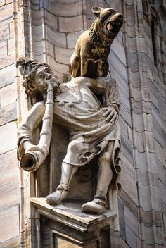 Interesting Sculpture on the Duomo di Milano (Milan Cathedral) Milan Italy | Flickr - Photo Sharing!