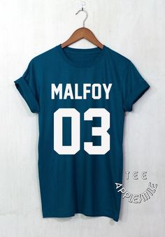 Draco Malfoy shirt MALFOY 03 t shirt Harry Potter tee unisex t-shirt size S to 2XL SIZE TABLE: S - Chest Width 36 Length 28 M - Chest Width 38