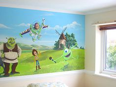 Buzz Toy Story Wall Murals Stickers for Kids Bedroom Wallpaper