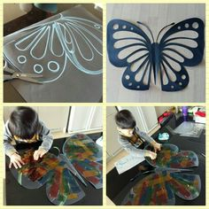 Projects For Kids, Diy For Kids, Art Projects, Crafts For Kids, Fairy Tale Crafts, Diy And Crafts, Paper Crafts, Butterfly Crafts, Glass Butterfly