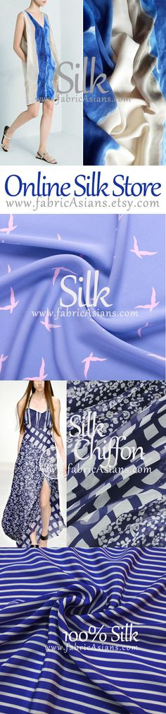 Online Silk Store on Etsy. Sewing Patterns Free, Sewing Ideas, Sewing Projects, Talent Management, Line Store, Shopping Sites, Fabric Online, Sell On Etsy, Silk Fabric