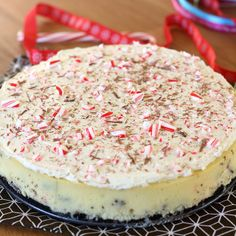 White Chocolate Peppermint Bark Cheesecake by Tracey's Culinary Adventures, via Flickr