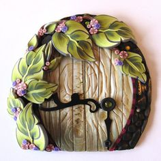 Vine Fairy Door Pixie Portal by Claybykim on Etsy