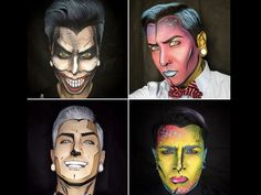 This guy uses makeup to transform himself into different superheroes and it's insanely awesome!
