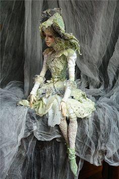 Art Dolls by Irina Deineko - Ira Deineko - Picasa Web Albums Beautiful Fantasy Art, Beautiful Dolls, Fairy Dolls, Ooak Dolls, Pixie, Shabby Chic Pink, Polymer Clay Dolls, Paperclay, Fairy Art
