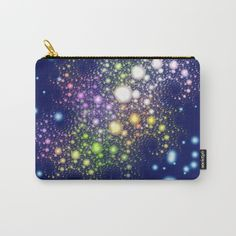 https://society6.com/product/space-pearls_carry-all-pouch?curator=hereswendy: Organize your life with our Carry-All Pouches. Available in three sizes with wraparound artwork, these pouches are perfect for toiletries, art supplies or makeup. Even an iPad fits into the large size. Features include a faux leather pulltab for easy open and close, a durable canvas-like exterior and a 50/50 poly-cotton black interior lining. Machine washable.