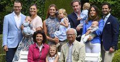 King Carl Gustaf, Queen Silvia, Crown Princess Victoria, Prince Daniel, Princess Estelle, Prince Oscar, Princess Madeleine, Christopher O'Neil, Princess Leonore, Prince Nicolas, Prince Carl Philip, Princess Sofia, Prince Alexander