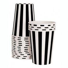 Black & White striped cups #Shop Sweet Lulu
