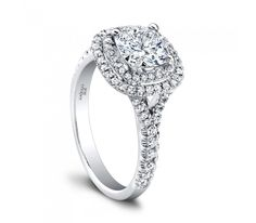Bague de mariage : Jeff Cooper Double Halo Diamond Engagement Ring : This beautiful diamond engagem. Double Halo Engagement Ring, Cushion Cut Engagement Ring, Engagement Ring Settings, Diamond Engagement Rings, Diamond Rings, Bling Bling, Jeff Cooper, Thing 1, Dream Ring
