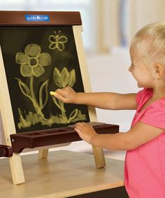 Take a look at this Wood Tabletop Easel Set by Guidecraft on #zulily today! $37 !!