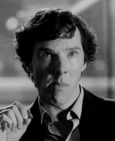 Sherlock aggressively chewing animated gif