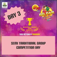 Come & compete with groups in semi traditional, to win the title of Best semi traditional group at Dildar Dandiya tonight !!