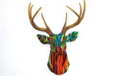 Faux Taxidermy  Fabric Island Deer Head Wall Mount by NearAndDeer, $179.99