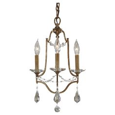 F2623/3OBZ,3 - Light Mini Duo Chandelier,Oxidized Bronze