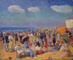 William Glackens (American, 1870-1938). Crowd at the Seashore, ca. 1910. The Metropolitan Museum of Art, New York. Bequest of Miss Adelaide Milton de Groot (1876–1967), 1967 (67.187.126)