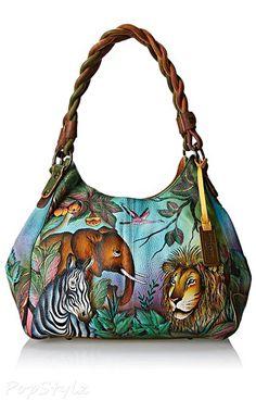 Anuschka 533 African Adventure Leather Handbag