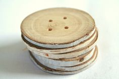 Birch buttons. Heck yes!