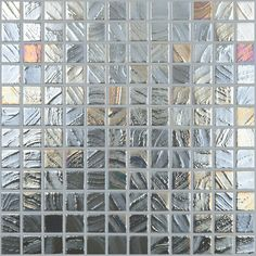 Shop Elida Ceramica Glass Mosaic Textured Steel Glass Mosaic Square Wall Tile (Common: 12-in x 12-in; Actual: 12.5-in x 12.5-in) at Lowes.com