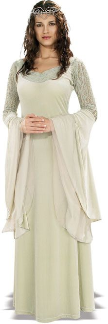 *Officially Licensed *Full length gown *Tiara *Necklace & Wig are SOLD SEPARATELY *Brand New In Manufacturer Packaging Arwen Undmiel is the daughter of Elrond & Celebrian and she has twin brothers, El