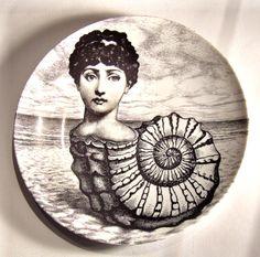 Theme & Variations, Seashell woman, plate 1 by Piero Fornasetti.