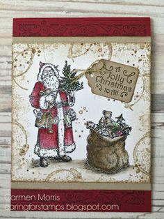 Caring for Stamps: Aftellen naar de Herfts/Winter Catalogus #19: Stampin' Up! ~ Father Christmas | Timeless Textures
